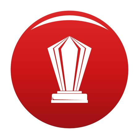 Award icon on red background, vector illustration Illustration