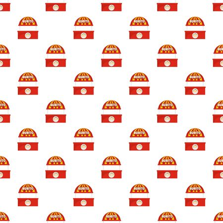 Burito selling pattern seamless, vector illustration Stock Illustratie