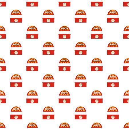Burito selling pattern seamless, vector illustration Illustration