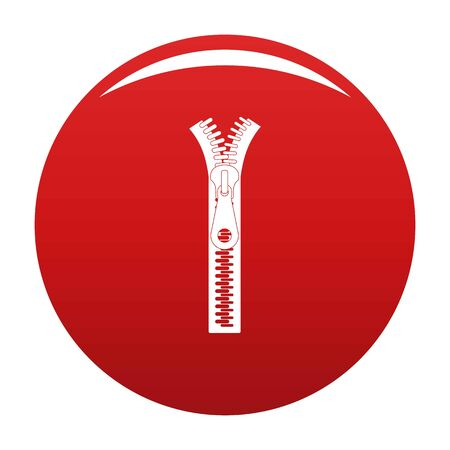 Small zip icon on red background, vector illustration