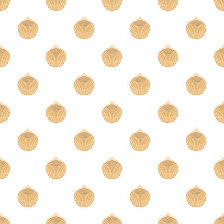 Beautiful shell pattern seamless, vector illustration
