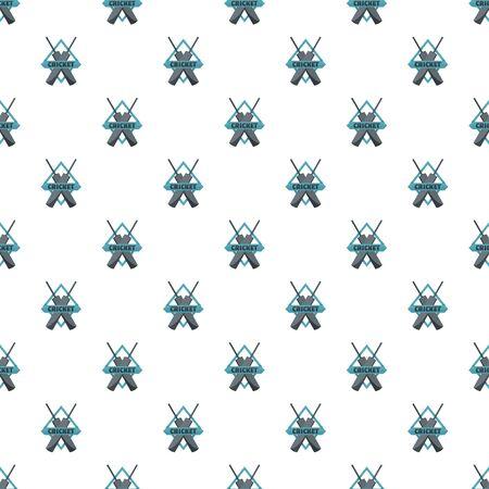 Crossed bats cricket pattern seamless, vector illustration