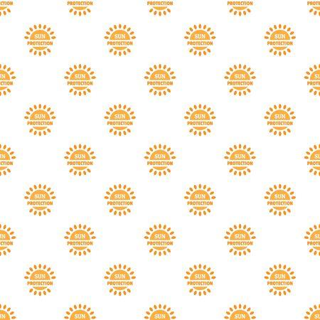 Sun protection pattern seamless, vector illustration