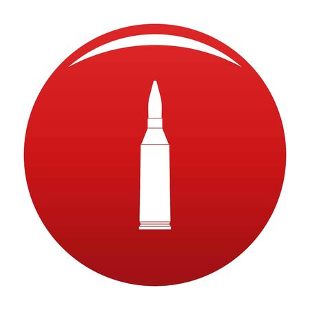 Thin cartridge icon on red background, vector illustration.