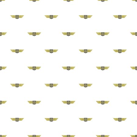 Wings fighter pattern seamless, vector illustration. Banque d'images - 127764842