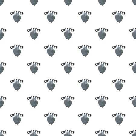 Cricket gloves pattern seamless, vector illustration.  イラスト・ベクター素材