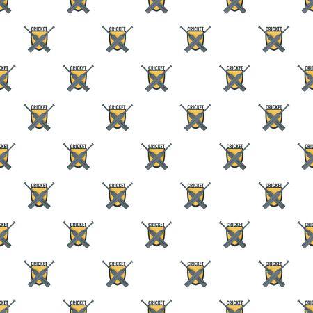 Cricket crossed bats pattern seamless, vector illustration. Ilustracja