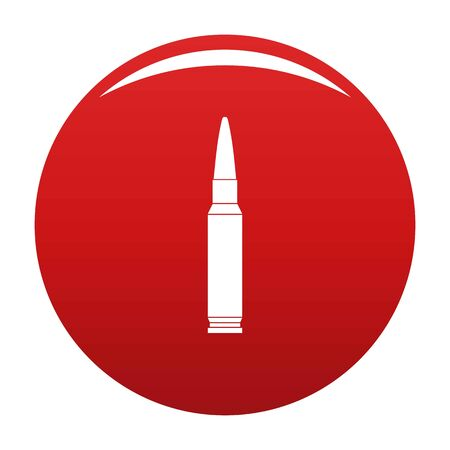 Small bullet icon on red background, vector illustration. Illustration