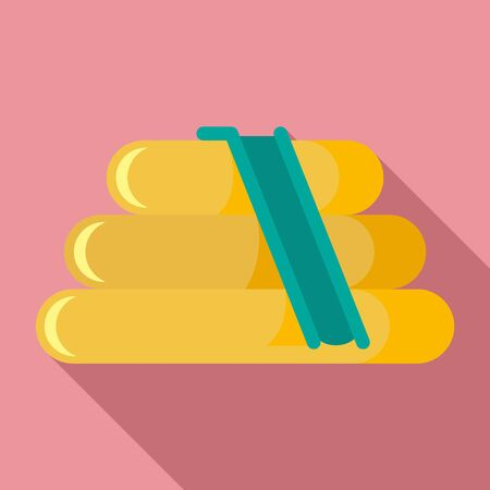 Rubber kid slide icon, flat style Illustration