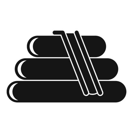 Rubber kid slide icon, simple style