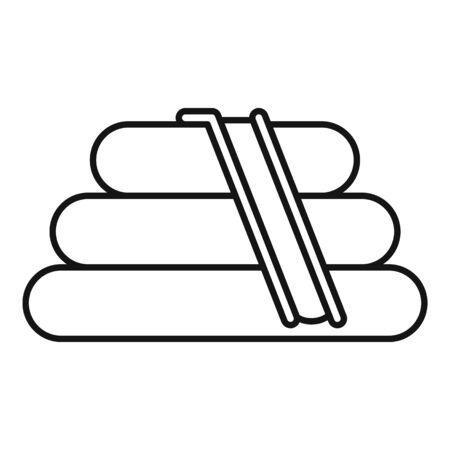 Rubber kid slide icon, outline style Illustration