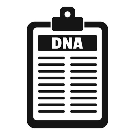 Dna checkboard icon, simple style
