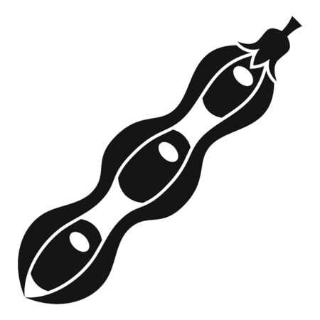 Dna modified beans icon, simple style Ilustração