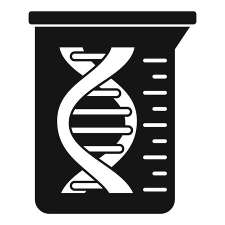 Dna flask icon, simple style