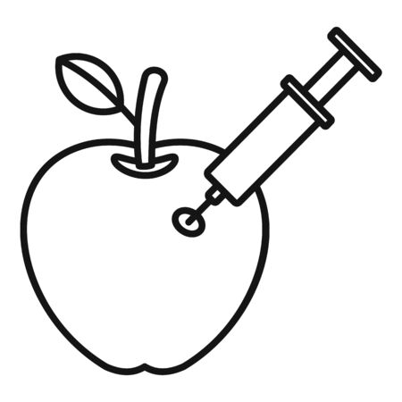 Dna modify apple icon, outline style