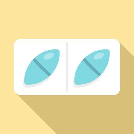 Prescription capsule icon, flat style