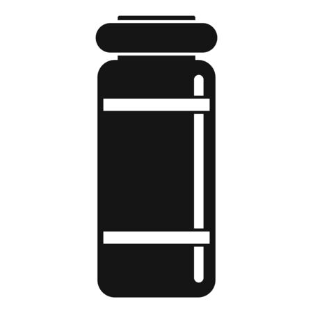 Medical injection jar icon, simple style