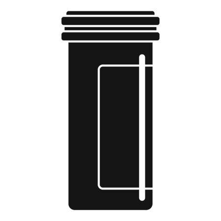 Antibiotic plastic jar icon, simple style