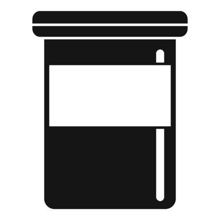 Vitamin plastic jar icon, simple style Ilustração