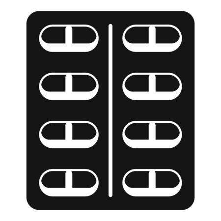 Capsule pack icon, simple style Ilustração