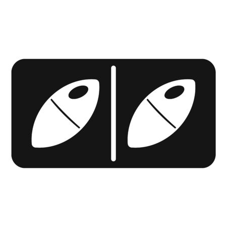 Prescription capsule icon, simple style Ilustração