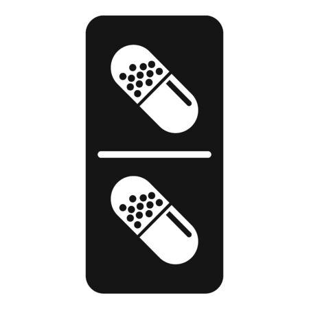 Modern antibiotic capsule icon, simple style Ilustração
