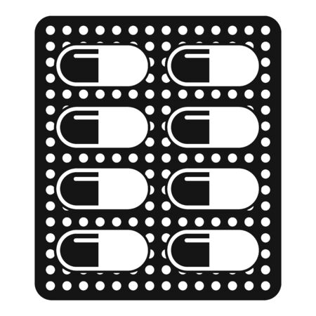 Antibiotic dose pack icon, simple style