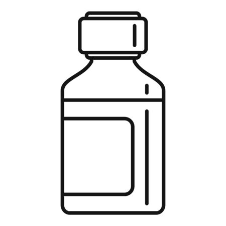 Mint syrup bottle icon, outline style