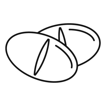 Medical tablet icon, outline style