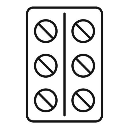 Pillpack icon, outline style Ilustração