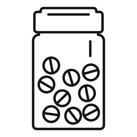 Antibiotic pills icon, outline style