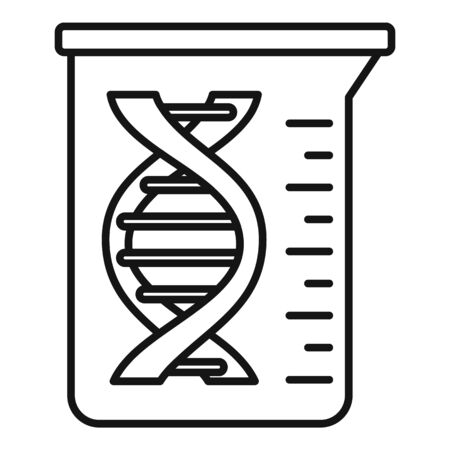 Dna flask icon, outline style