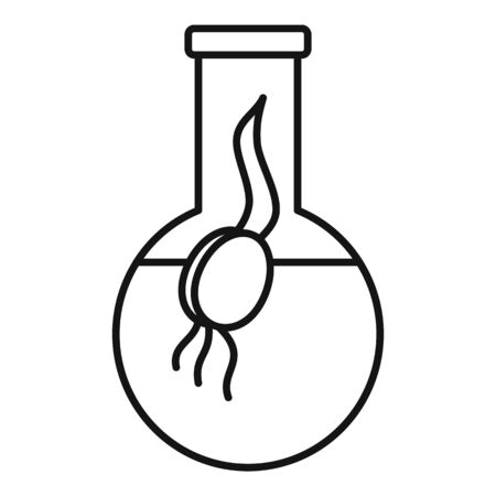 Genetically modified seed icon, outline style