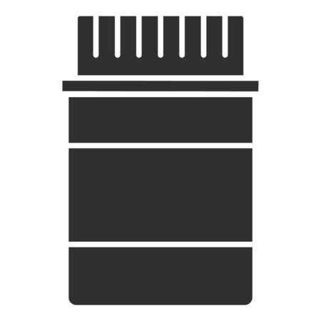 Pills jar icon, simple style