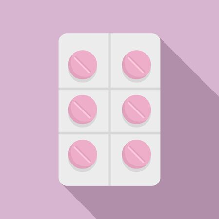 Pillpack icon, flat style
