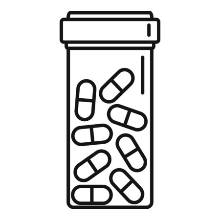 Jar capsule icon, outline style