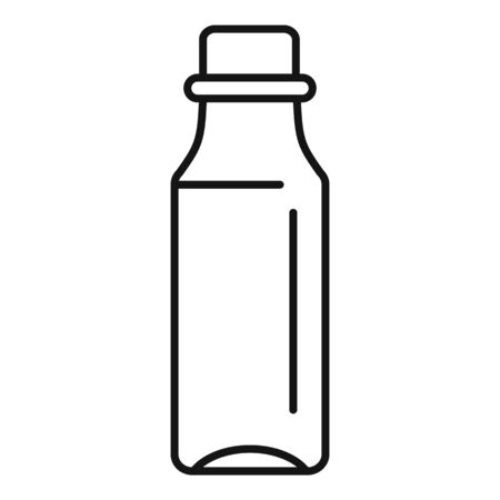 Medical syrup bottle icon, outline style