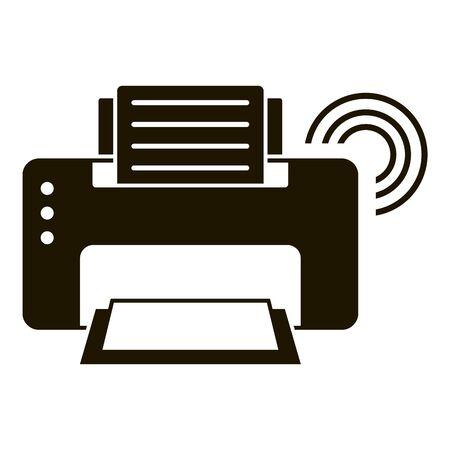 Smart printer icon, simple style