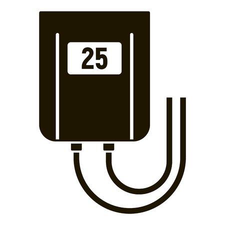 Temperature smart controller icon, simple style