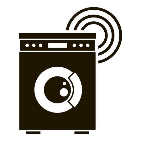 Smart wash machine icon, simple style Ilustração