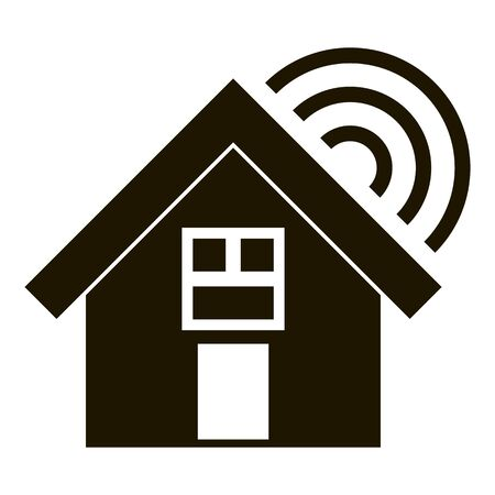 Smart village home icon, simple style
