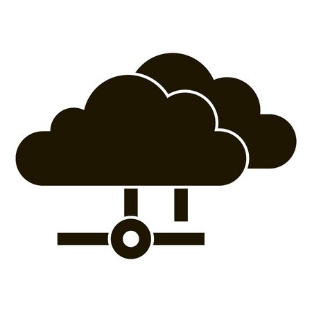 Data cloud icon, simple style Ilustração
