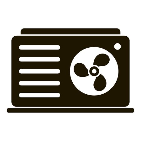 Outdoor conditioner fan icon, simple style