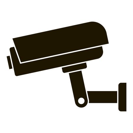 Security camera icon, simple style