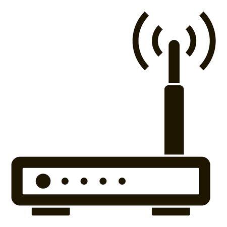 Wifi smart router icon, simple style Ilustração