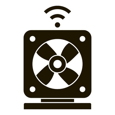 Smart air fan icon, simple style Illustration