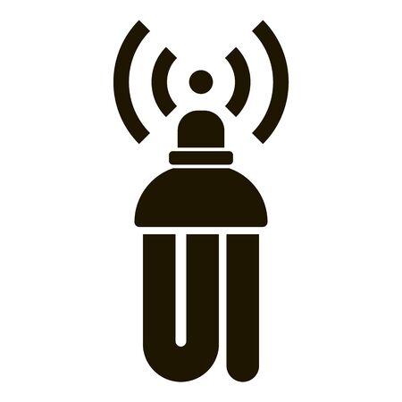 Smart led bulb icon, simple style
