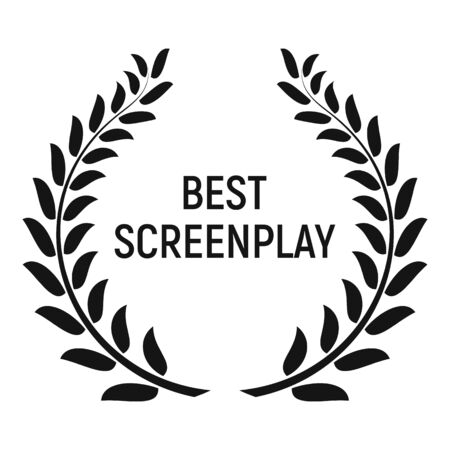Best screenplay award icon, simple style