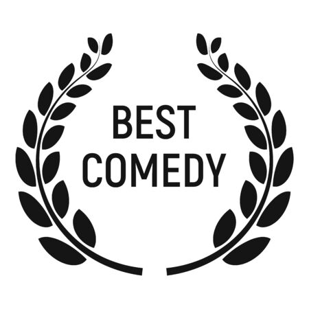 Best comedy award icon, simple style