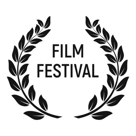 Icône du prix du festival du film, style simple
